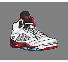 Shoes Fire Reds (Kicks) Photographic Print