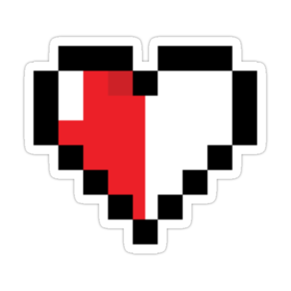 My 8-Bit Heart - His by RiskGambits