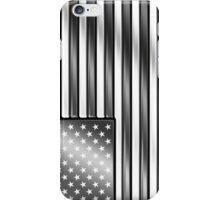 American Flag 2 - USA - Metallic - Steel iPhone Case/Skin