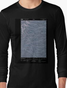 USGS Topo Map Washington State WA Whiskey Dick Mountain 20110411 TM Inverted Long Sleeve T-Shirt