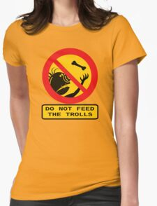 WARNING TROLLS Womens Fitted T-Shirt