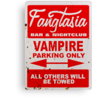 True Blood - Fangtasia - Vampire Parking Only Canvas Print