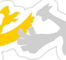 Pokemon - Ho Oh and Lugia Tee Sticker