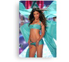 Victoria's Secret Fashion model Adriana Lima walks the runway Canvas Print