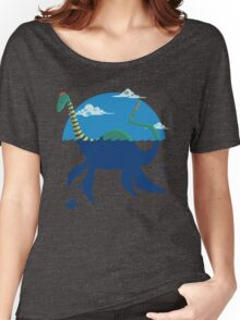 "Loch""Ness"" - Medium Blue Women's Relaxed Fit T-Shirt"