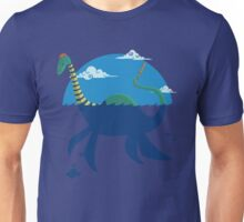 "Loch""Ness"" - Medium Blue Unisex T-Shirt"
