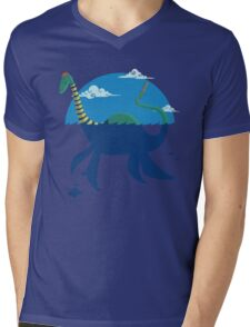 "Loch""Ness"" - Medium Blue Mens V-Neck T-Shirt"