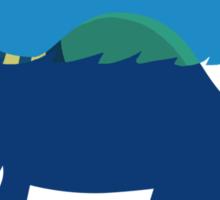 """Loch""""Ness"""" - Medium Blue Sticker"""