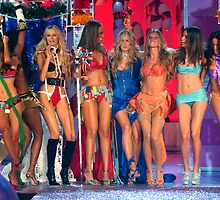 Victoria's Secret Fashion models at the runway finale during 2006 Fashion Show in NYC.  by Anton Oparin