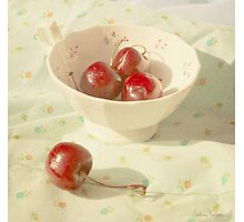 Cherries in a cup still life photography Photographic Print
