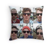 Festy Faces Throw Pillow
