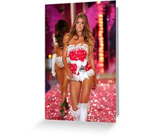 Victoria's Secret model Doutzen Kroes walks the runway Greeting Card