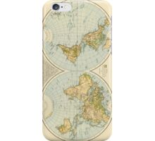 Vintage Map of The World (1895) iPhone Case/Skin