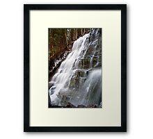 Bear Creek Falls in Winter Framed Print