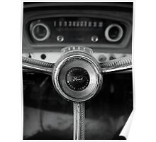 Classic Ford Truck Dashboard Poster