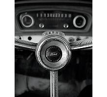 Classic Ford Truck Dashboard Photographic Print