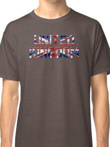 United Kingdom - British Flag - Metallic Text Classic T-Shirt