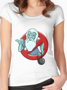 I Ain't Afraid Of No Ghosts - Gus Women's Fitted Scoop T-Shirt