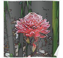 The Meditating Flower Poster