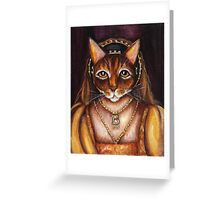 Tudors Anne Boleyn Cat King Henry VIII Wives Greeting Card