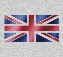 British Flag - UK - Metallic One Piece - Long Sleeve