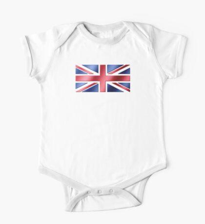 British Flag - UK - Metallic One Piece - Short Sleeve