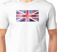 British Flag - UK - Metallic Unisex T-Shirt
