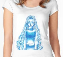 Lady in the Blue Women's Fitted Scoop T-Shirt