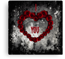 Dark Valentine Canvas Print