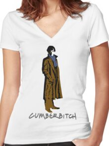 Cumberbitch - oh yeeeeeaaaaah Women's Fitted V-Neck T-Shirt