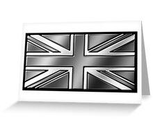 British Union Jack Flag 2 - UK - Metallic - Steel Greeting Card