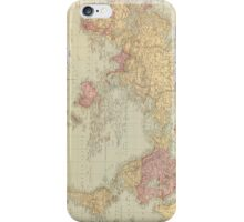 Vintage Map of The World (1901) iPhone Case/Skin