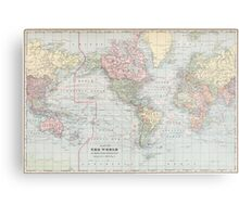 Vintage World Map (1901) Metal Print