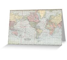 Vintage World Map (1901) Greeting Card