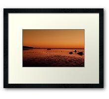 """""""Low Tide"""" Framed Print"""
