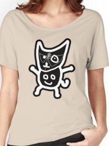 black ZEFCAT Women's Relaxed Fit T-Shirt