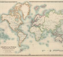 Vintage Map of The World (1911) by BravuraMedia