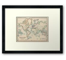 Vintage Map of The World (1911) Framed Print