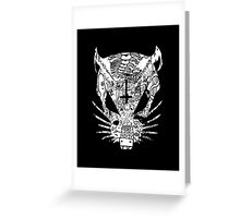 Black ZEF Graffiti Rat Greeting Card