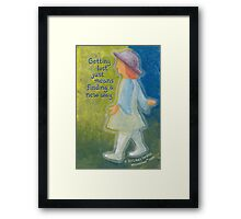 Getting Lost... Framed Print