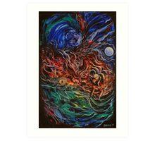 Energetic Forms Art Print