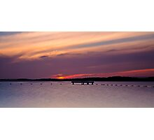 Lake Macquarie Sunset Photographic Print
