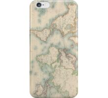 Vintage Map of The World (1911) iPhone Case/Skin