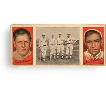 Benjamin K Edwards Collection Mordecai Brown Geo F Graham Chicago Cubs baseball card portrait Canvas Print