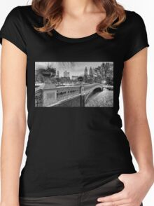 Bow Bridge Night Women's Fitted Scoop T-Shirt