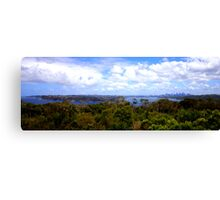 North Head Manly - City of Sydney in the distance Canvas Print