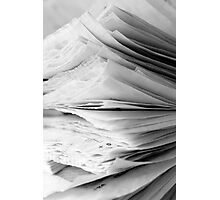 Are the pages blank ? Photographic Print
