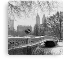 Bow Bridge Daytime Canvas Print