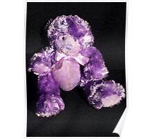 Teddy in Purple Poster