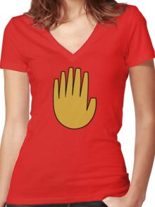 Gravity Falls: The Journal Hand (vector) Women's Fitted V-Neck T-Shirt